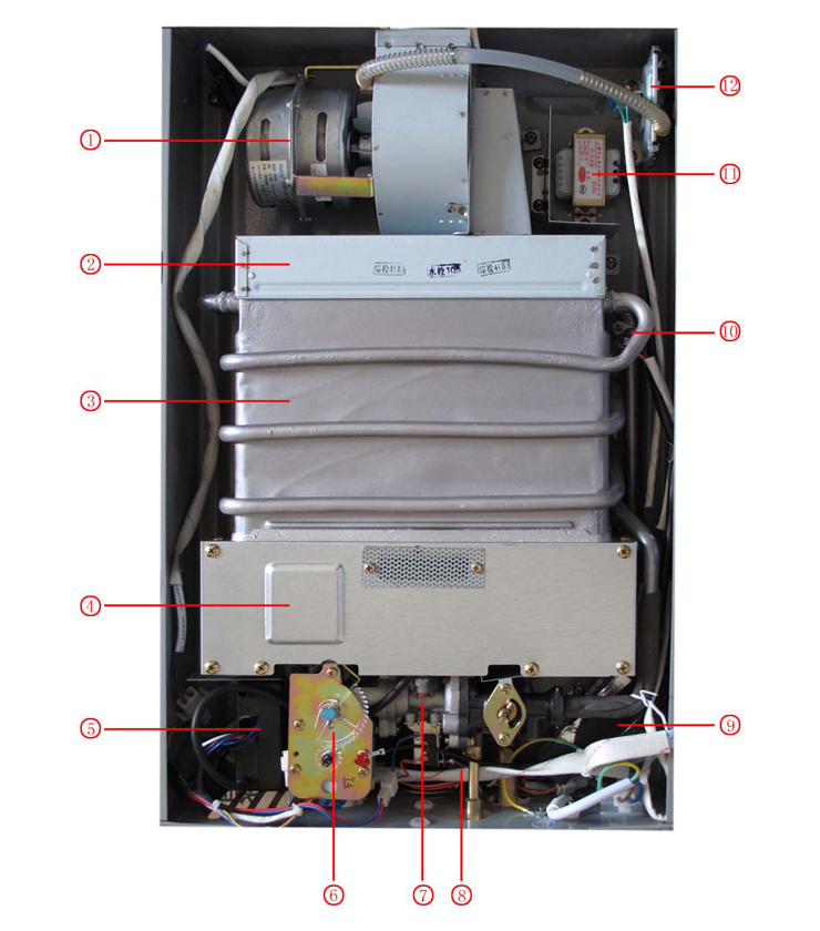 万和q8bv8非常节能恒温型强排式燃气热水器sq16-8b